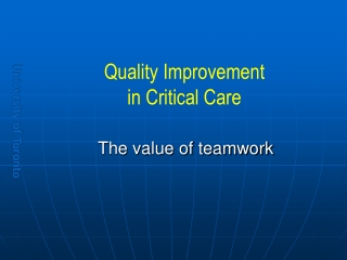 teamwork and decision-making in the icu