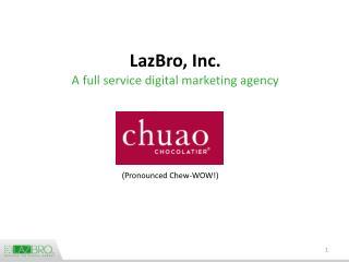 LazBro, Inc. A full service digital marketing agency