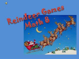 Reindeer Games Math 8