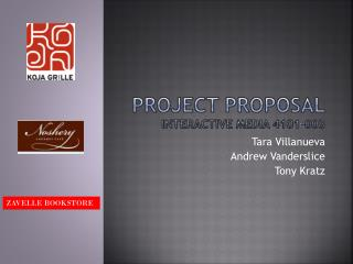 Project Proposal Interactive Media 4101-003