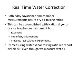 Real Time Water Correction