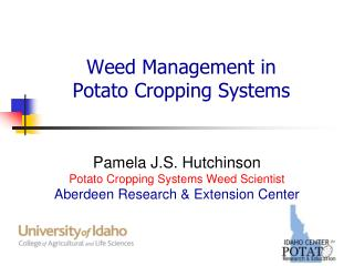Weed Management in  Potato  C ropping  S ystems