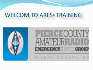 WELCOM TO ARES ® TRAINING