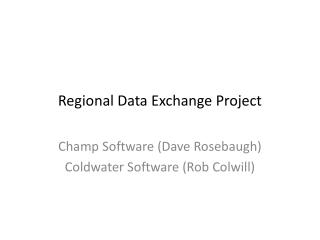 Regional  Data Exchange Project