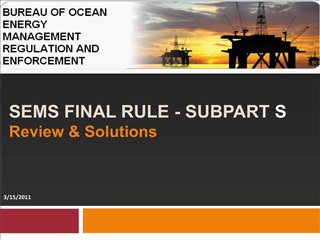 sems final rule - subpart s review  solutions