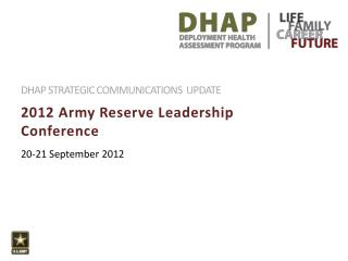 2012 Army Reserve Leadership Conference