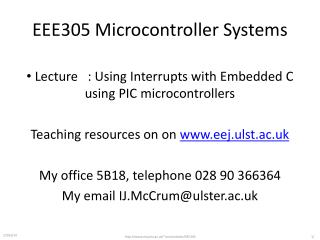 EEE305 Microcontroller Systems