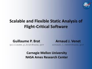 Scalable and Flexible Static Analysis of Flight-Critical Software