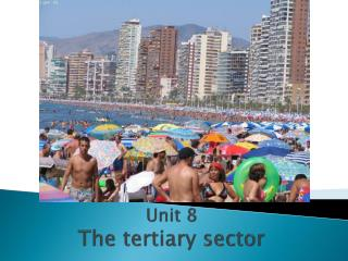 Unit 8 The tertiary sector