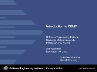 Introduction to CBMC