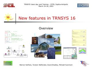 New features in TRNSYS 16