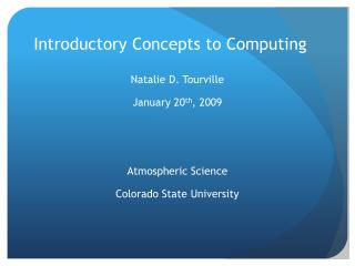 Introductory Concepts to Computing