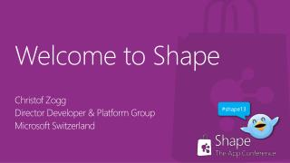 Welcome  to  Shape