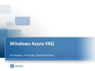 Windows Azure FAQ