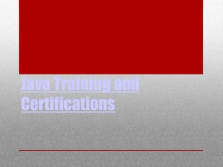 Online Java Course, Java Online Training