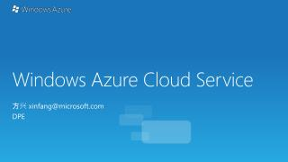 Windows Azure Cloud Service