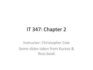 IT 347:  Chapter 2