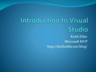 Introduction to Visual Studio
