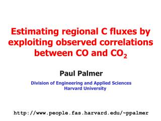 Estimating regional C fluxes by exploiting observed correlations between CO and CO 2