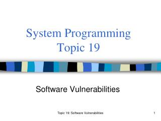 System Programming Topic 19
