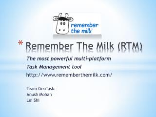 Remember The Milk (RTM)