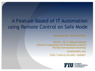 A Feature-Based of IT Automation using Remote Control on Safe Mode
