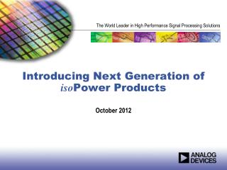 Introducing Next Generation of  iso Power Products