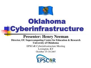 Oklahoma Cyberinfrastructure