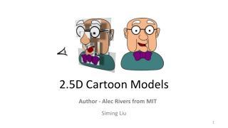 2.5D Cartoon Models