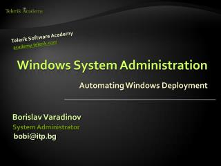 Windows System Administration