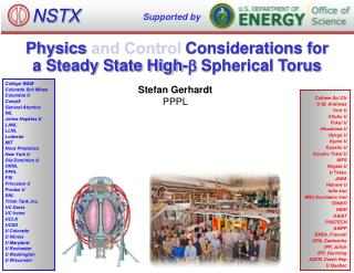 Physics and Control Considerations for a Steady State High- b Spherical Torus