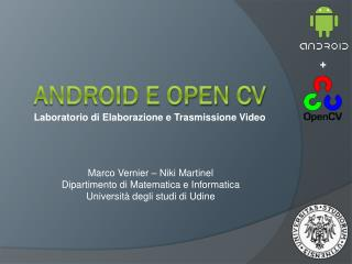 Android e open cv