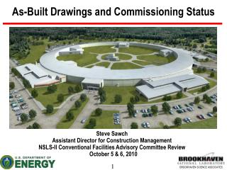 As-Built Drawings and Commissioning Status