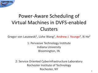 Power-Aware Scheduling of Virtual  Machines in DVFS-enabled Clusters