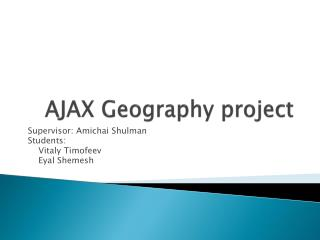 AJAX Geography project