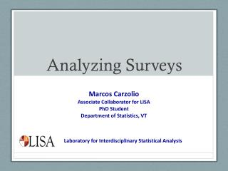 Analyzing Surveys