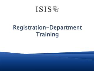 Registration-Department Training