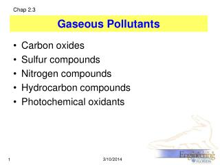 Gaseous Pollutants