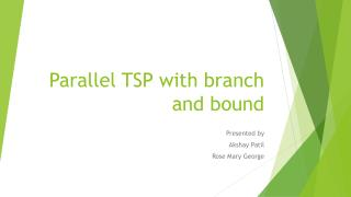 Parallel TSP with branch and bound
