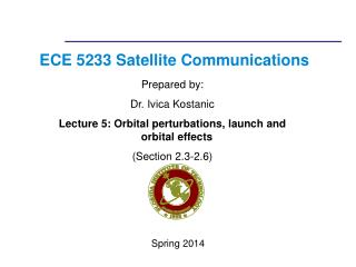 ECE 5233 Satellite Communications