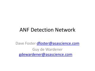 ANF Detection Network