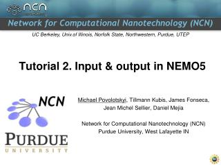 Tutorial 2. Input & output in NEMO5