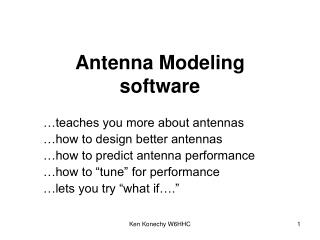 Antenna Modeling software