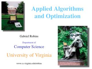 Applied Algorithms  and Optimization