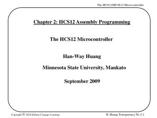 Chapter 2: HCS12 Assembly Programming