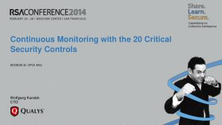 Continuous Monitoring with the 20 Critical Security Controls