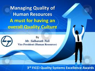 Managing Quality of Human Resources A must for having an overall Quality Culture
