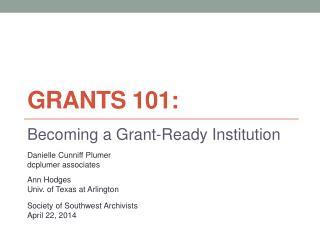 Grants 101: