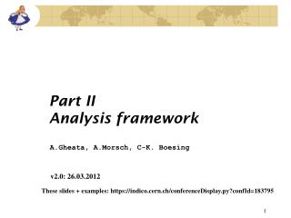 Part II Analysis framework