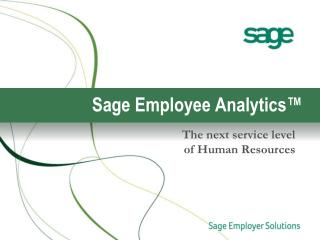 Sage Employee Analytics™
